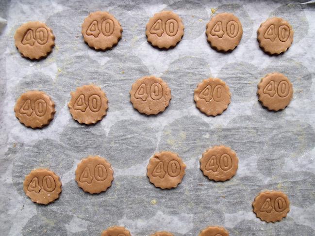 les biscuits personnalisés avant la cuisson