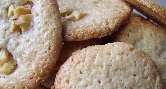biscuits creme fraiche et morceaux de pomme