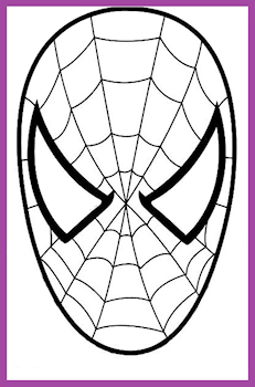Coloriage masque de spiderman