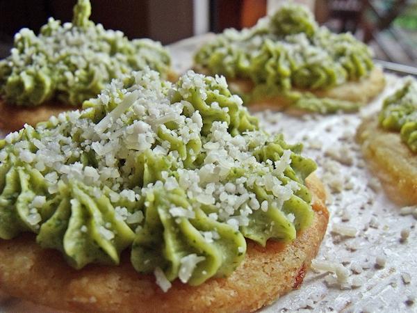 tartelettes sablées au brocoli et patates douces