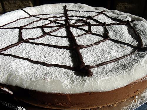 gâteau toile d'araignée pour Halloween
