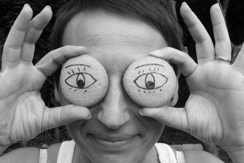 Les yeux en biscuits rigolos de Kat