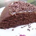 Gâteau mousseline au chocolat, crème de marrons