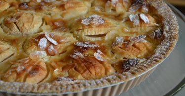 tarte aux pommes au lait de coco