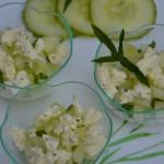 Concombre à la menthe et Boursin