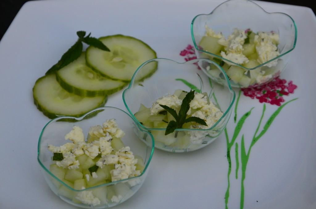 coupelles de concombres à la menthe et boursin (5)
