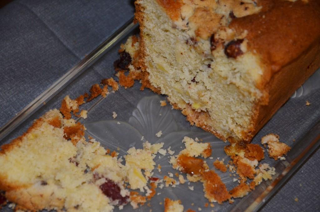 crumble cake aux noisettes et cranberries (5)