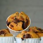 Célia et ses muffins au pralin et chocolat Côte d'Or