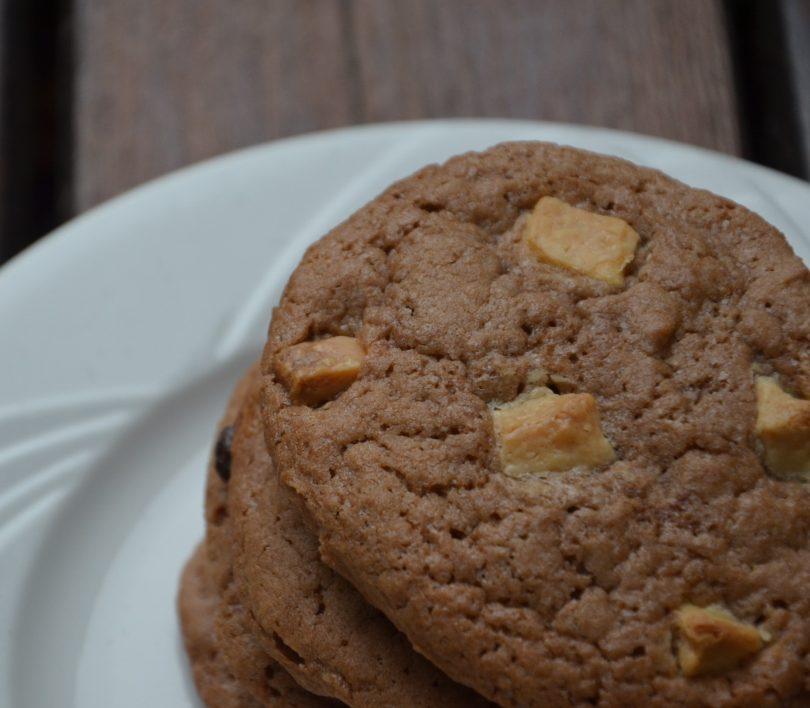 cookies nutella et pépites de chocolat blanc