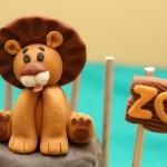 Gâteau Zoo en pâte à sucre