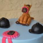 Gâteau Poney en pâte à sucre