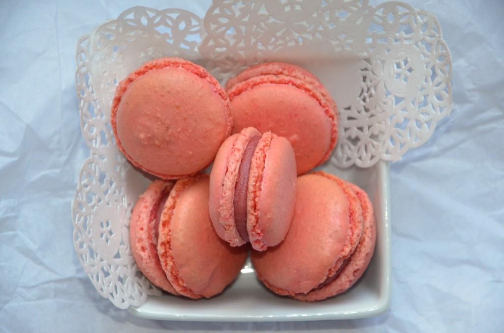 macarons, ganache framboise (2)