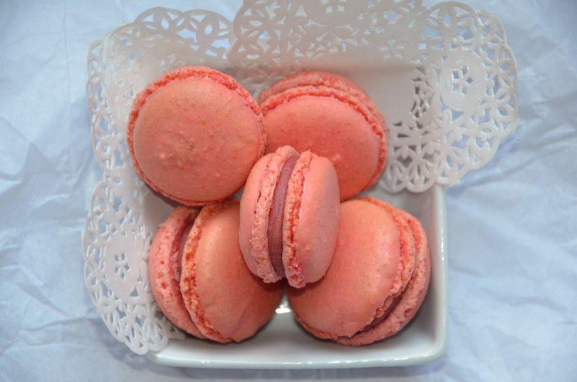 macarons ganache framboise