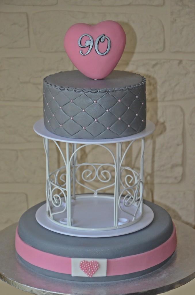 wedding cake rose et gris