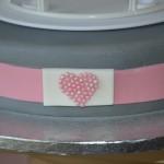 Presqu'un wedding cake rose et gris pour ma Grand-Mère