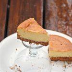 Gâteau-flan coco sur croûte de spéculoos