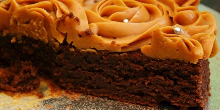 rose cake chocolat-caramel