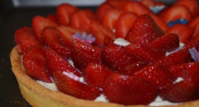 tarte aux fraises et ganache