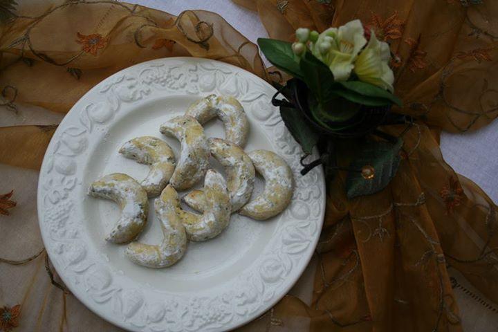 cornes à la pistache