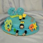 Gâteau thème plongée sous-marine