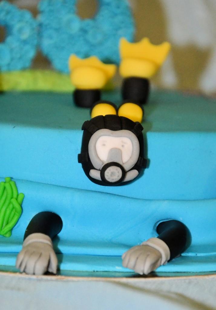 gâteau thème plongée