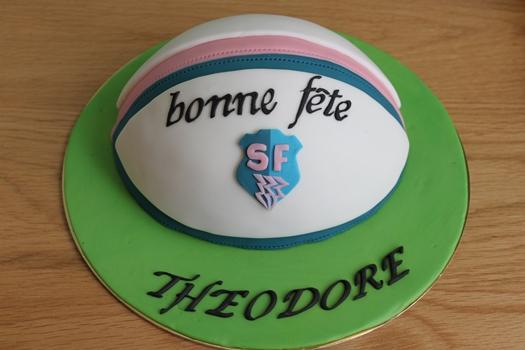 gateau ballon de rugby