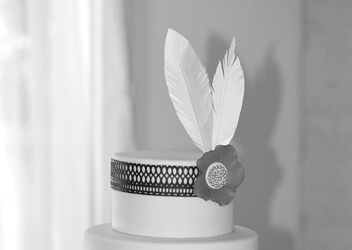 plumes en wafer paper
