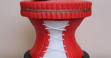 gateau corset escarpin pate a sucre