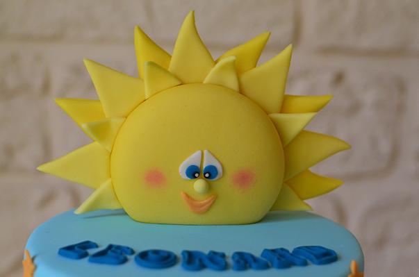 Cake topper soleil, pour un gâteau d'anniversaire d' 1 an