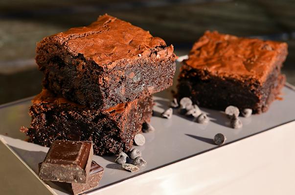 le brownie aux pépites de chocolat de Marc Grossman
