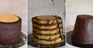 comment sculpter un gâteau en forme de pot de fleurs