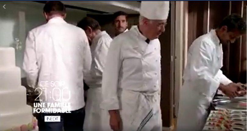 Dernier épisode de la saison 14 d'une famille formidable avec le wedding cake réalisé par Do You Cake?