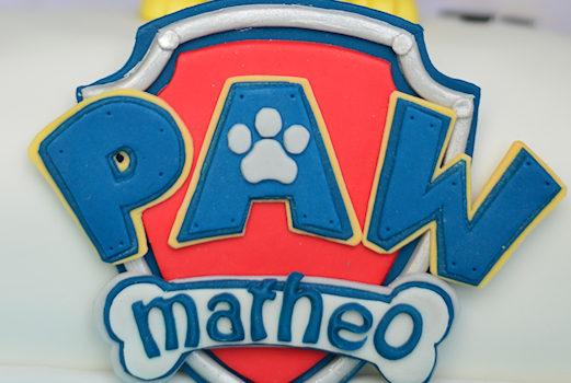écusson Pat Patrouille personnalisé en pâte à sucre