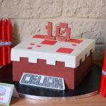 """Gâteau """" Gâteau Minecraft"""" et déco Minecraft pour un chouette anniversaire"""