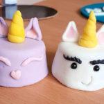 Bouchées de Licornes (tutoriel pour faire des mini gâteaux licornes)