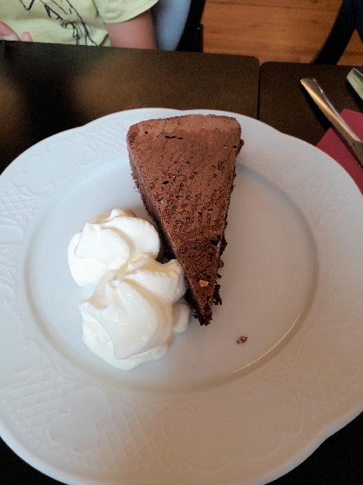 Moelleux au chocolat mangé lors du raid pâtisserie à Toulouse
