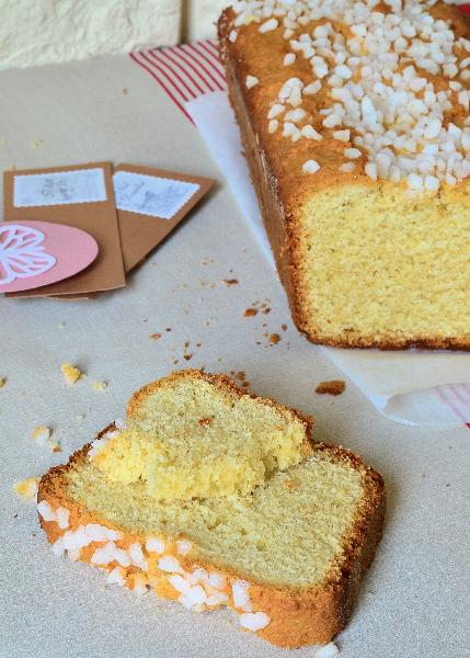 une recette facile de cake aux amandes et fleur d'oranger