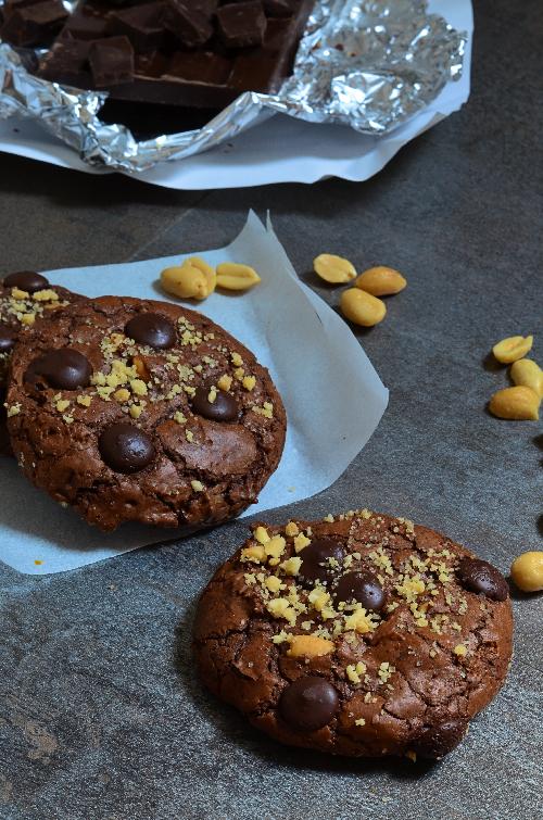 ces cookies au chocolat et cacahuètes sont vraiment outrageous-ment bons