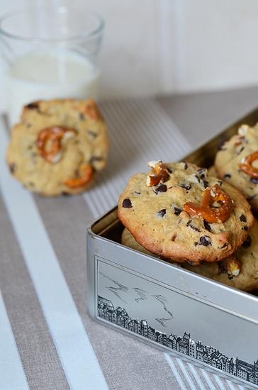 cookies sucrés salés à la banane et aux bretzels