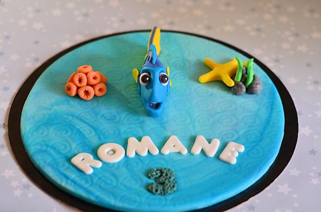 Décoration de gâteau thème Dory