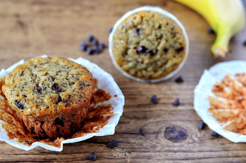 Des muffins à la banane très moelleux