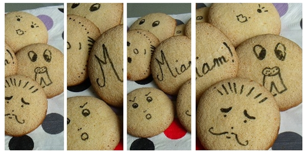Des petits biscuits décorés et rigolos