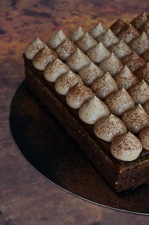 Entremets Baileys à base de brownie et de ganache montée au Baileys