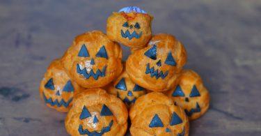 Idée Halloween : des chouquettes citrouilles