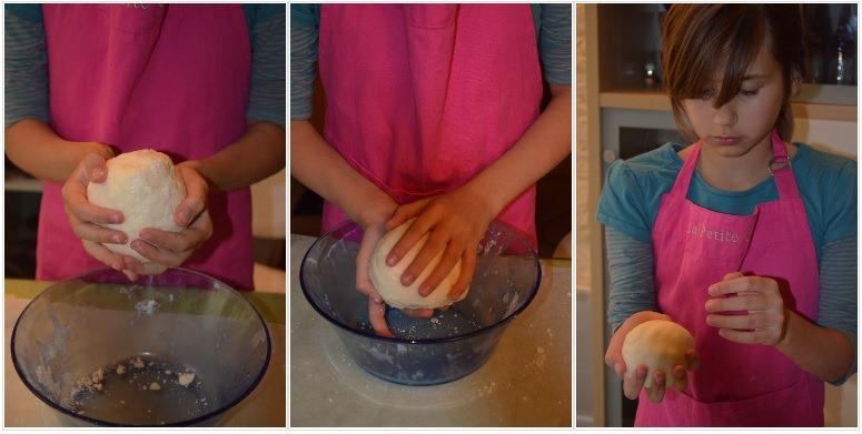 Faire une boule de pâte à fondant pour la recette d'Halloween