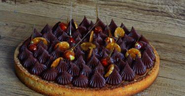 tarte à la noisette chocolat et caramel