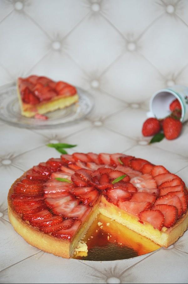 recette de tarte au fraises qui change