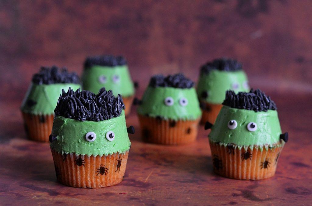 recette halloween : cupcakes Frankenstein