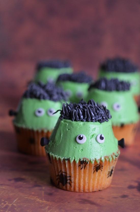 Idées de cupcakes Frankenstein à la crème au beurre