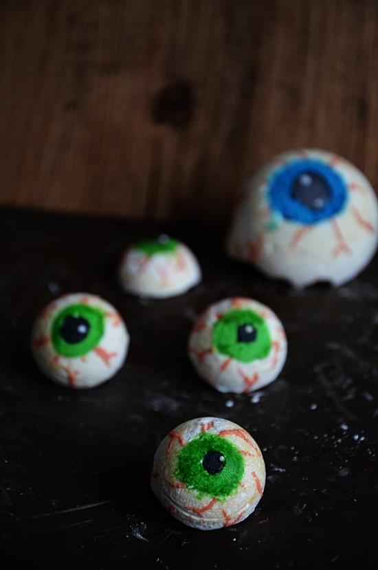 yeux de monstres en meringues, recette pour halloween